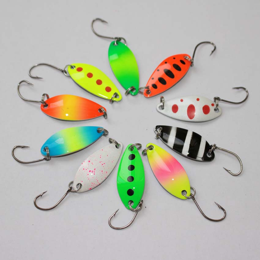 Free shipping colorful trout lure fishing spoon for Sa fishing promo code free shipping