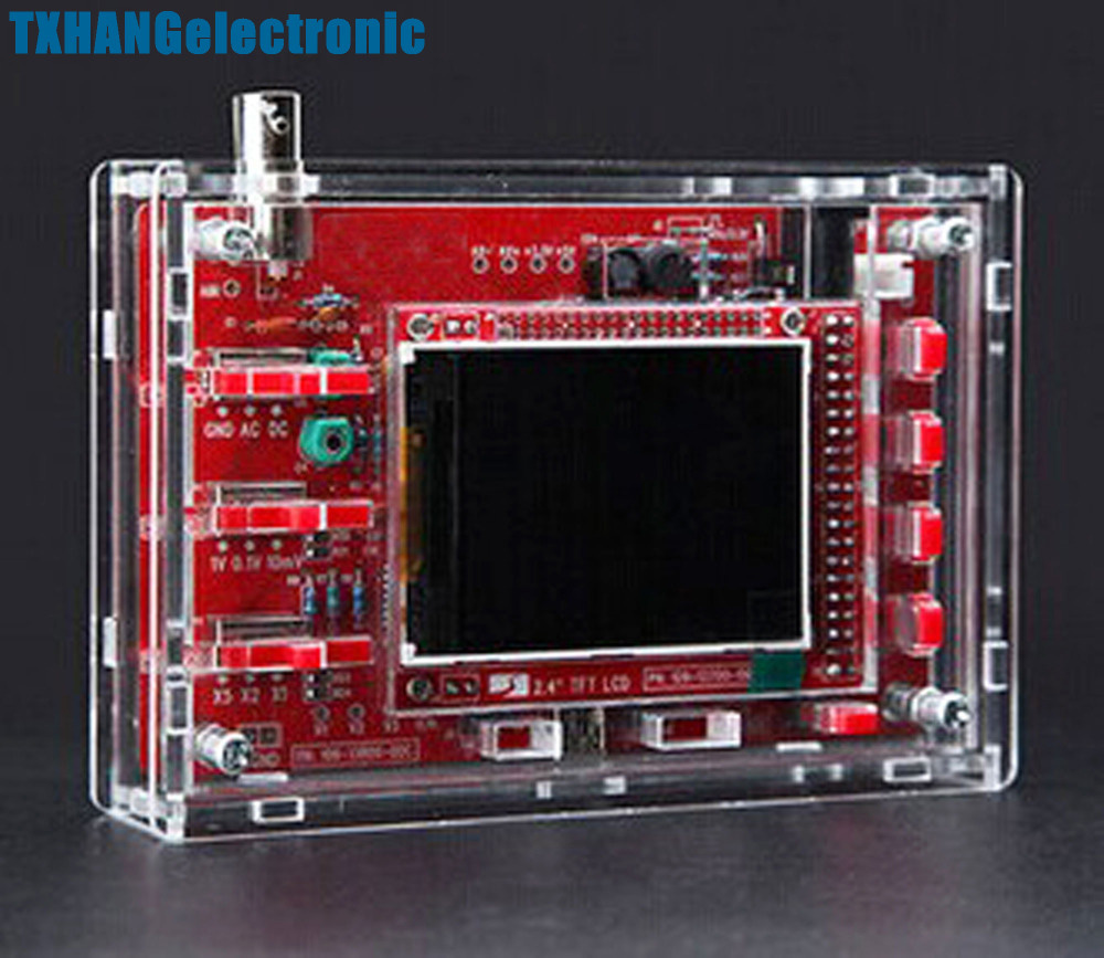 DSO138 2.4 TFT Digital Oscilloscope Acrylic Case DIY Kit SMD SolderedDSO138 2.4 TFT Digital Oscilloscope Acrylic Case DIY Kit SMD Soldered