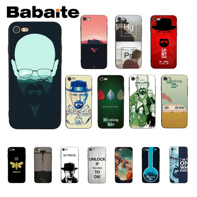 Babaite Breaking Bad Customer High Quality Phone Accessories Case for iPhone 8 7 6 6S Plus X XS MAX 5 5S SE XR Cover