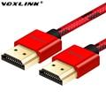 VOXLINK ультра тонкий 4 К HDMI кабель 1 М 2 М 3 М Высокая Скорость Позолоченный между мужчинами Кабель HDMI 1.4 В 1080 P 3D для HDTV XBOX PS3 PS4 ПК