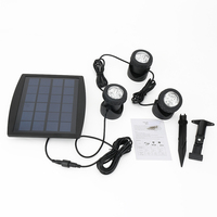 Portable LED Outdoor Solar Powered Spotlight RGB Cold White Waterproof IP68 Led Landscape Light Solar Garden