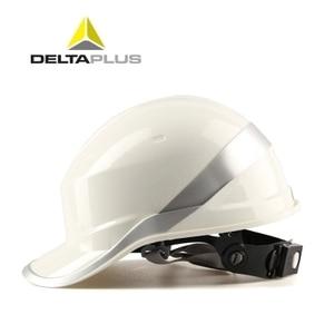 Image 3 - Casco de seguridad ABS para trabajo, gorra protectora ajustable con rayas de fósforo, protección aislante para sitio de construcción