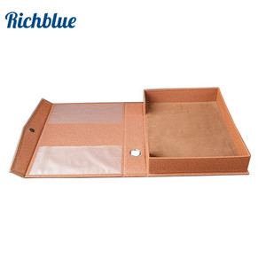 Image 1 - PU Leather A4 Paper File Box Document File Organizer Business Gift A4 File Stationery Holder Desk Organizer Data Storage Box