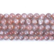 """Fctory цена натуральный персик Sunstone круглые бусины 1"""" нить 6 8 10 мм выбрать размер для ювелирных изделий Makingdiy"""