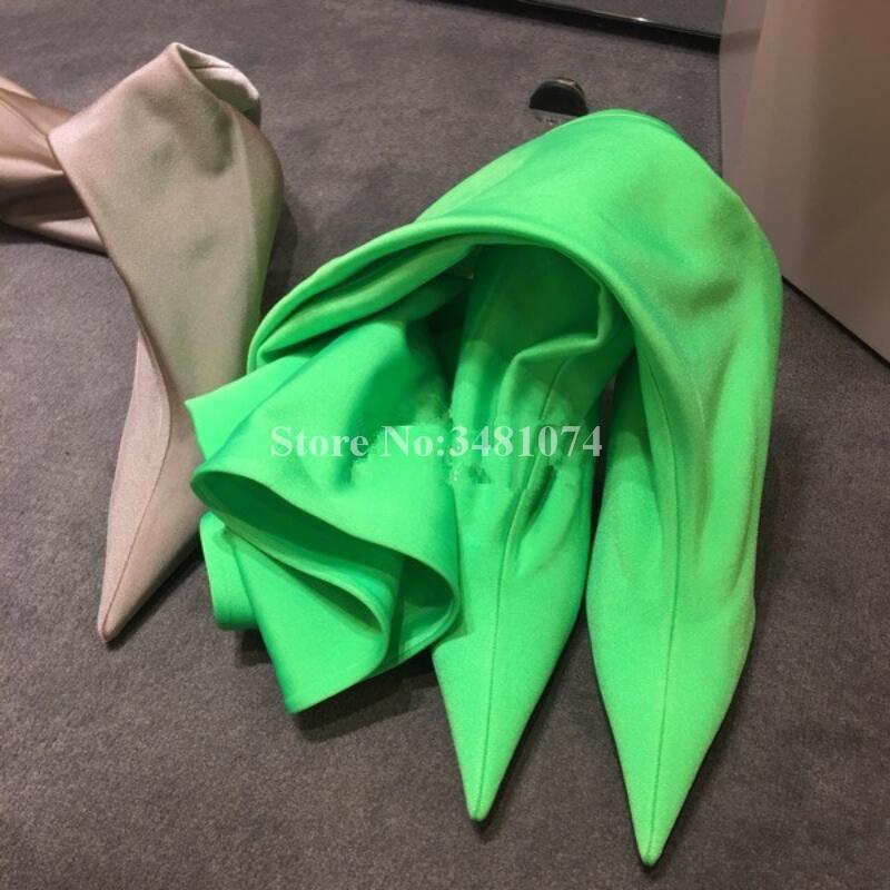 Automne Le À Pointu Hauts Plus De Mode Hiver Chaud Genou Stretch Personnalisable Bottes Sur Et Talons Bout Mince Couleur r8r6xSH