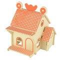 Starz 3D de madera naranja House Puzzles juguetes modelo estático de madera del arte Kits de edificio regalos para los niños