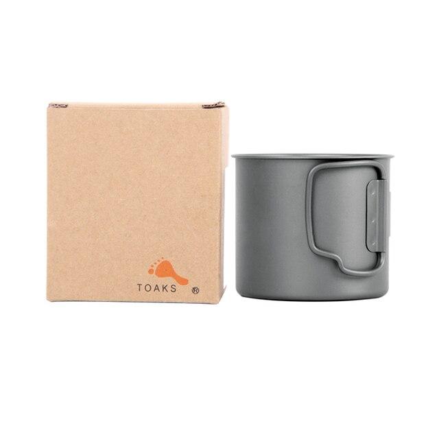 Toaks Titanium 375ml CUP  Mug Handle Cup-375 5