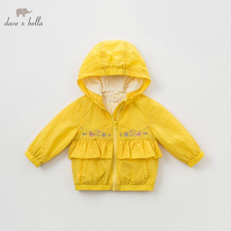 DBM9587 dave bella spring baby girls jacket children fashion outerwear kids solid coatDBM9587 dave bella spring baby girls jacket children fashion outerwear kids solid coat