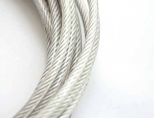 0.5MM, 1X7 50M, 304 stainless steel wire rope with PVC coating softer fishing coated cable clothesline traction rope lift