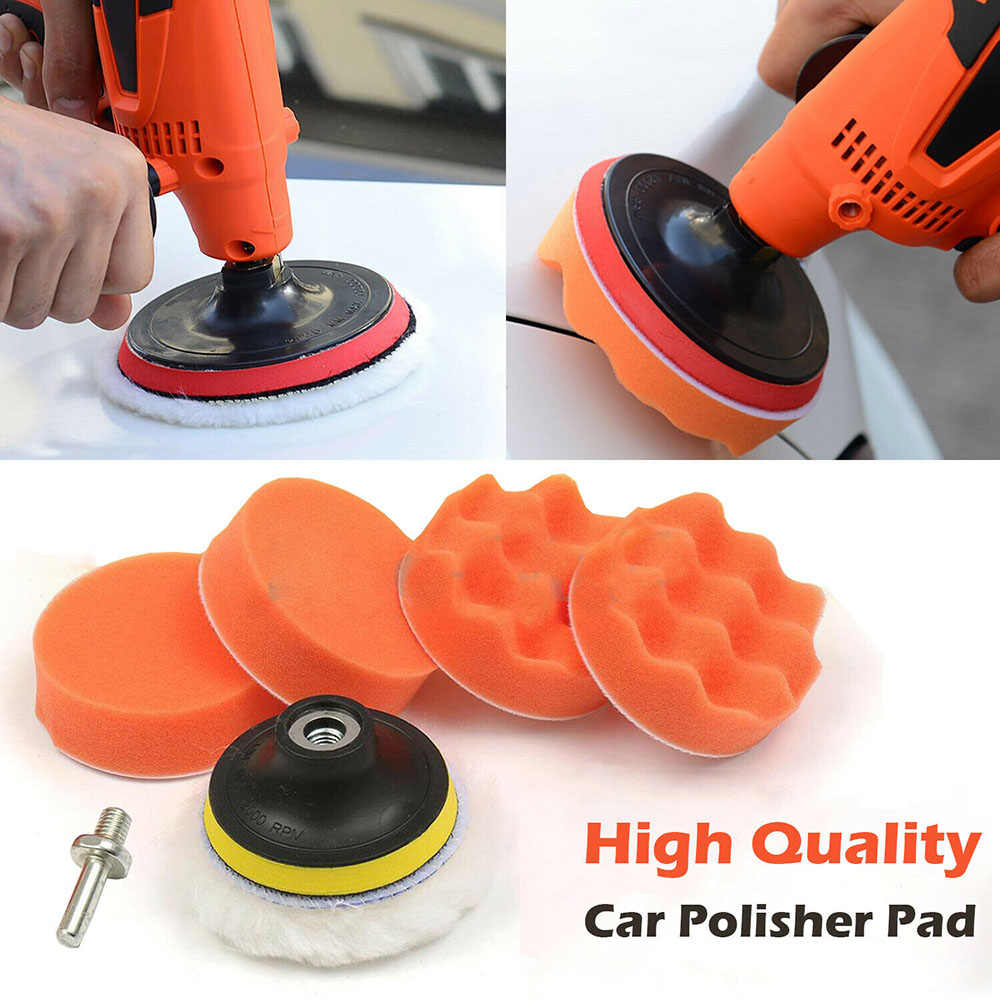"8pcs 3/4"" Car Polish Pad Sponge Buffing Polishing Waxing Pad Kit For Car Polisher Wax car accessries"