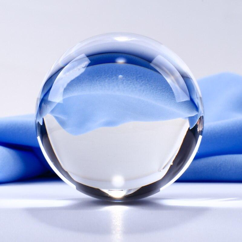 50mm průhledná křišťálová koule průhledná skleněná koule feng shui koule koule ozdoby figurky miniatury pro dárky domácí výzdoba
