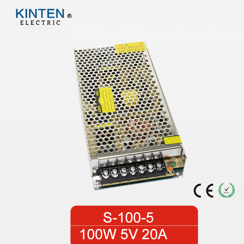 100W 5V 20A Single Output Switching power supply for LED Strip light smps AC TO DC