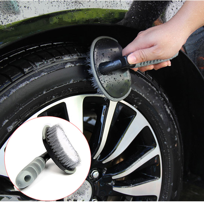 Car Wheel Brush Washing Tool For Skoda Octavia A5 A7 Rapid Fabia Superb 2 Yeti Kodiaq Felicia Roomster For Lexus RX300 IS250 IS 6x car snow tire anti skid chains for lexus rx nx gs ct200h gs300 rx350 rx300 for alfa romeo 159 147 156 166 gt mito accessories