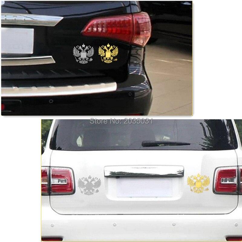 2018 Latest Car styling Russia badge sticker decal for peugeot 206 307 corolla volkswagen golf mk4 cruze citroen c4 golf mk7