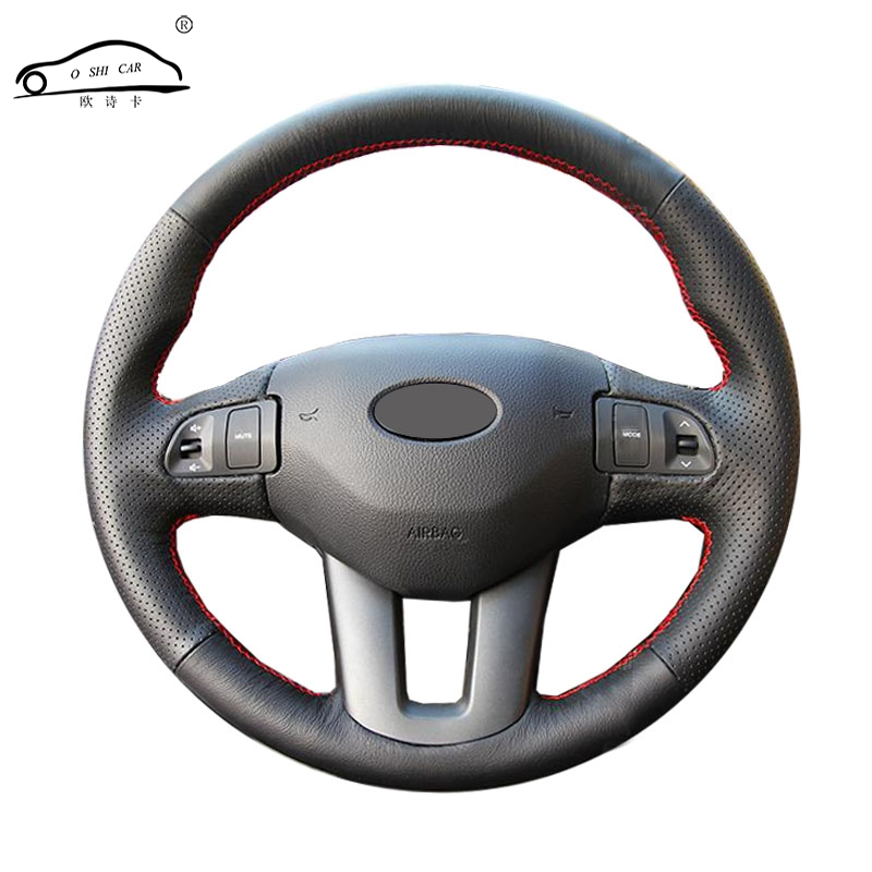 Genuine Leather car steering wheel Cover for  Kia Sportage 3 2011-2014 Kia Ceed Ceed 2010-2012/dedicated Steering-Wheel  BraidGenuine Leather car steering wheel Cover for  Kia Sportage 3 2011-2014 Kia Ceed Ceed 2010-2012/dedicated Steering-Wheel  Braid