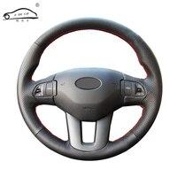 Genuine Leather car steering wheel Cover for Kia Sportage 3 2011 2014 Kia Ceed Cee'd 2010 2012/dedicated Steering Wheel Braid