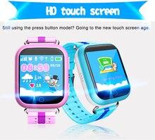 """1 unids Q100 Safe Kids Relojes de seguimiento GPS pantalla táctil de 1.54 """"Reloj inteligente Q750 Localizador Del Buscador Del Perseguidor SOS de Llamada Perdida Anti GSM"""