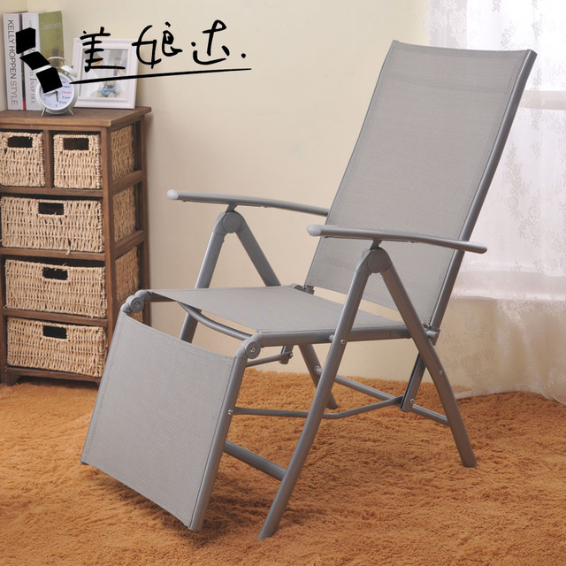 Office Lunch Break Chairs Outdoor Leisure Bold Iron Pipe Aluminum Folding Chair Recliner Home