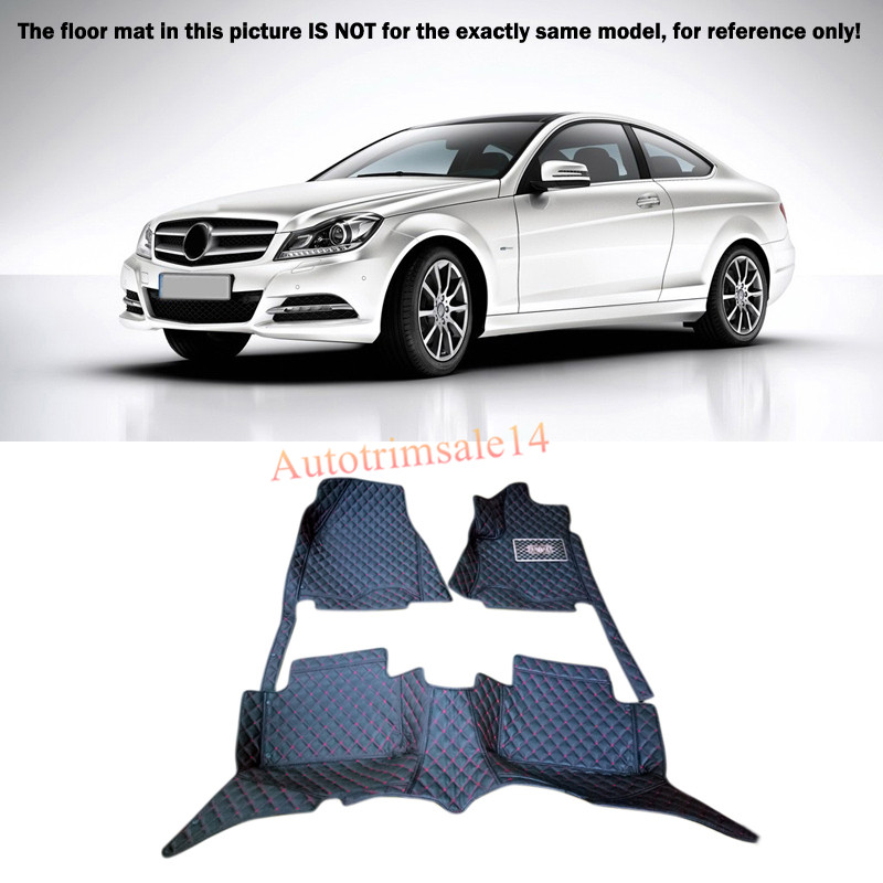 Black Interior Floor Mats & Carpet Foot Pad For Mercedes Benz C-Class 2008-2013 W204 auto fuel filter 163 477 0201 163 477 0701 for mercedes benz