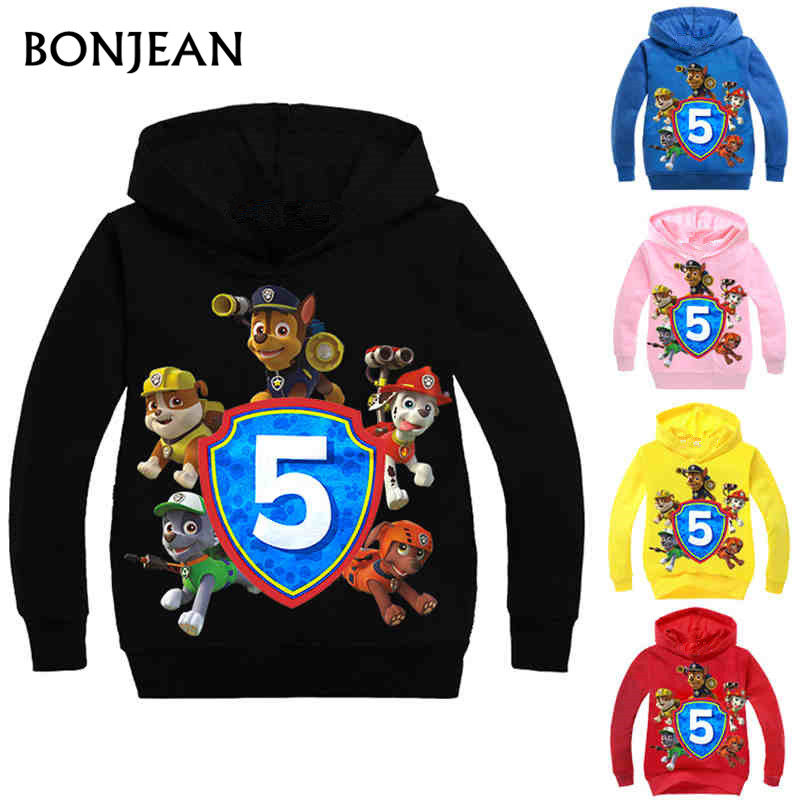 Hot Fashion Boys Girls Patrol Hoodies Children's Cartoon Canine Dog Puppy Print Sweatshirts Kids Long Sleeve Costume 3-10Y