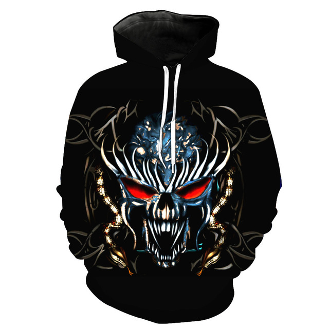 MELTED SKULL 3D HOODIE
