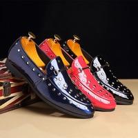 Patent Leather Shoes For Men Formal Shoes Men Classic Coiffeur Italian Loafers Men Party Shoes Wedding Dress Shoes