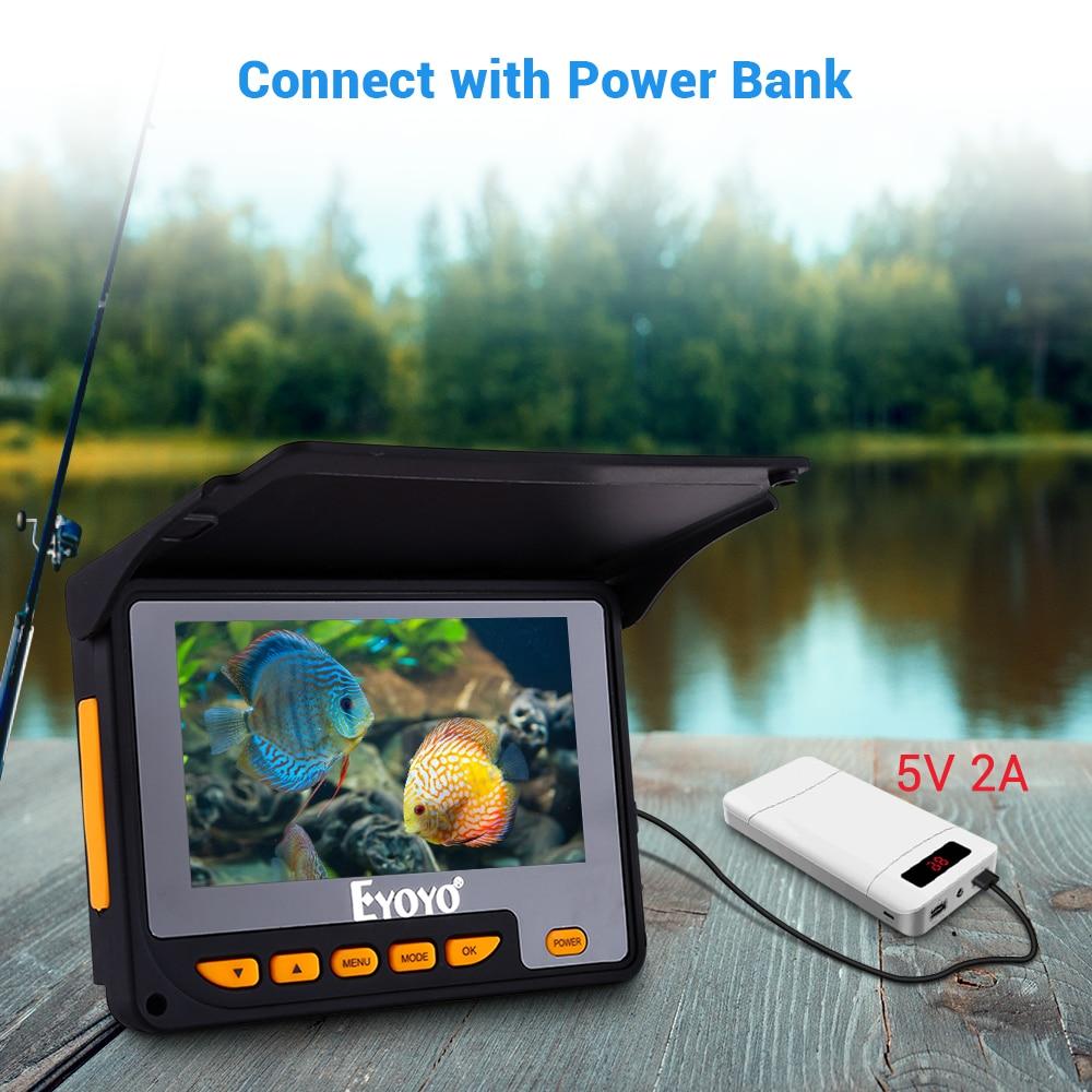 hd 1000tvl subaquática câmera de pesca gravação