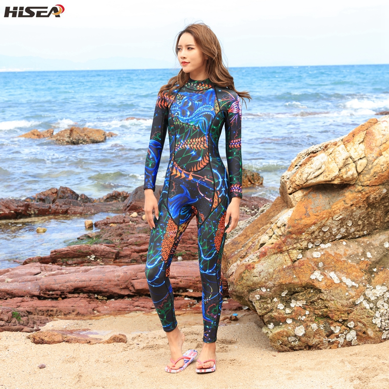 Hisea Frauen Neoprenanzüge 3mm Neopren elastische Schwimmen Surfen - Sportbekleidung und Accessoires - Foto 3