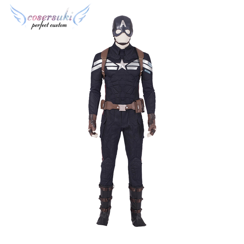 Avengers 4 Captain America Cosplay Costume Custom Made Superhero Shazam Cosplay Carnaval Costume Halloween Christmas Costume