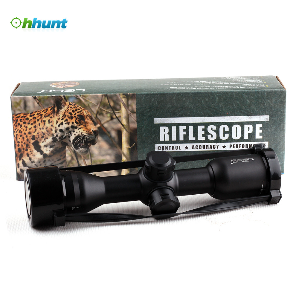 LEBO 4x32 AO Tactical Optical Sight Glass Reticle Compact Rifle Scope For Hunting Riflescope