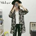 XXXL 4XL Plus Size Women Kimono Cardigan 2017Summer Fashion Floral Print V-neck Loose Casual Chiffon Blouse Ladies Long Shirts
