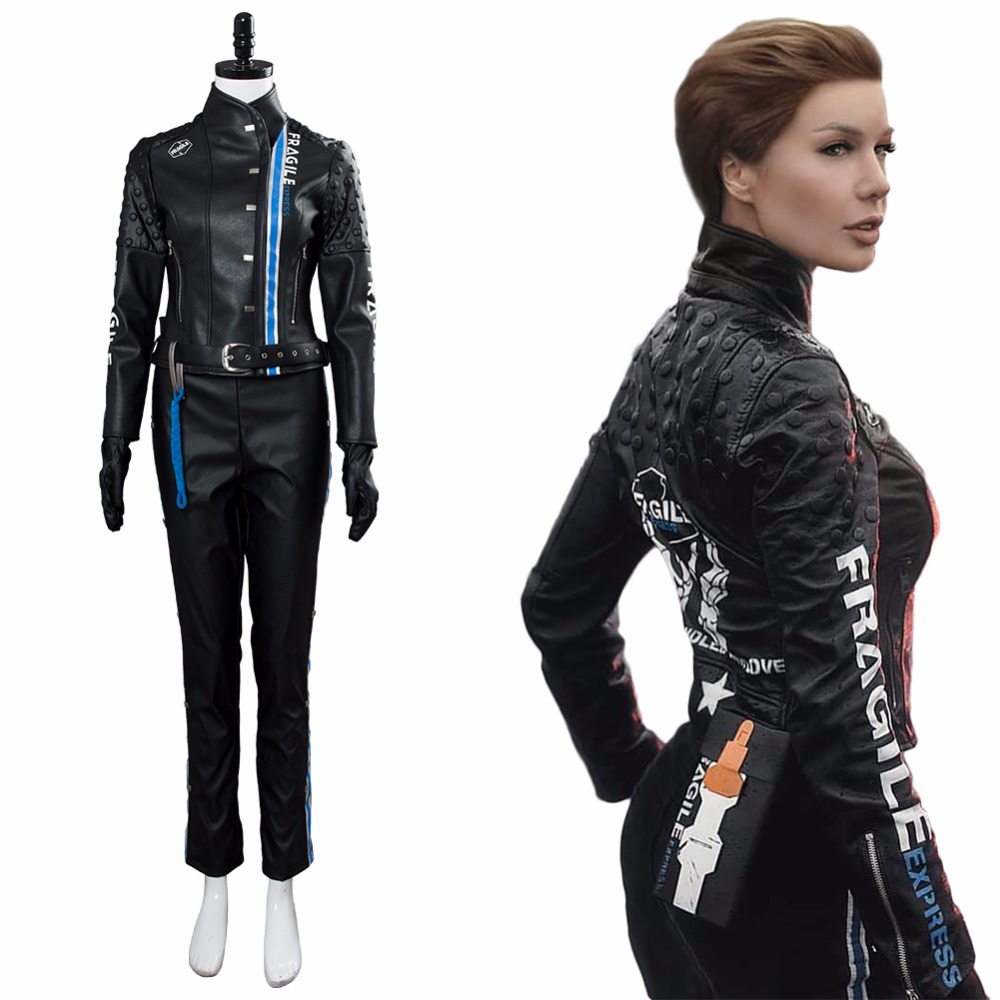 Death Cosplay Stranding Costume Lea Seydoux Outfit PU Full Suit Adult Halloween Carnival Costume Women Custom Made