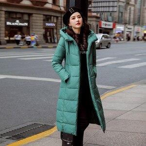 Image 4 - سترة شتوية للنساء سترة دافئة بقلنسوة للنساء معطف ملابس للنساء مجموعة جديدة رائعة لعام 2020 جودة عالية معطف نسائي طويل نحيف