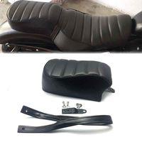Motorcycle Seat Cover Black Leather Rear Passenger Pad Seat for Harley Sportster Iron 883 XL883N 2016 2017