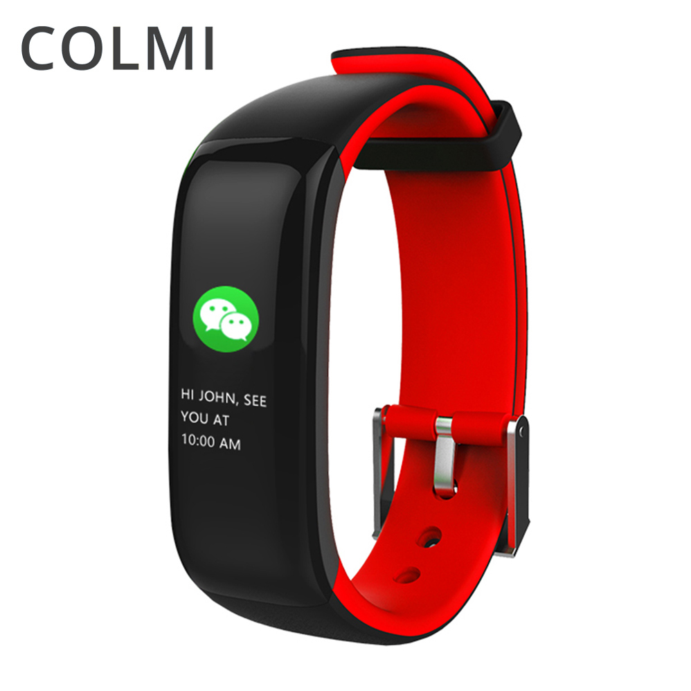 COLMI Smart Wristband Color OLED Screen Heart Rate Monitor Waterproof BRIM Band Fitness Tracker for Android iOS VS Mi Band 1S
