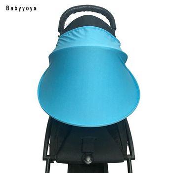 Baby wózek przeciwsłoneczna osłona przeciwsłoneczna osłona baldachimu pokrycie wózka wózki spacerowe Akcesoria samochodowe Seat buggy wózek Cap Sun Hood tanie i dobre opinie babyyoya Polyester PLASTIC 1789C42 0-3M 4-6M 7-9M 10-12M 13-18M 19-24M 2-3Y SUN VISOR Cart awnings Nylon sun cape sun visor