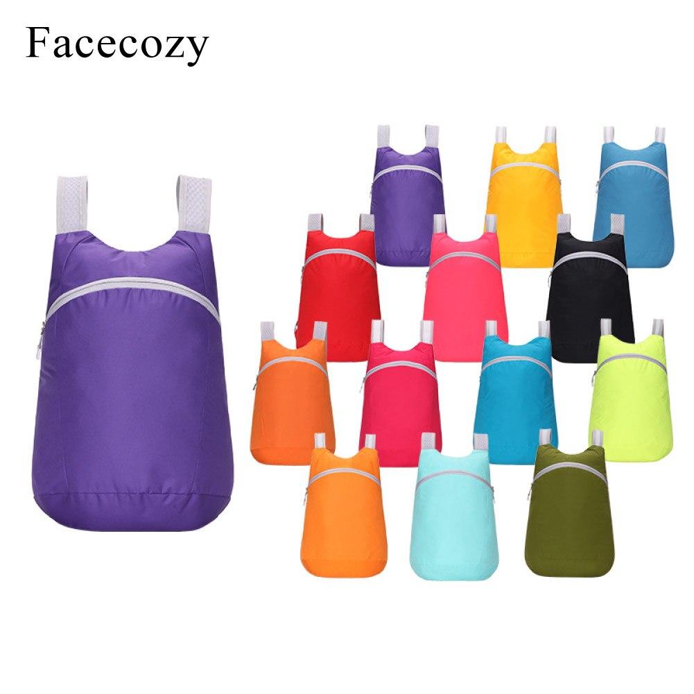 Facecozy ligero plegable mochila ciclismo senderismo plegable al aire libre mochila de viaje ultraligero impermeable deportes bolsas de gimnasio