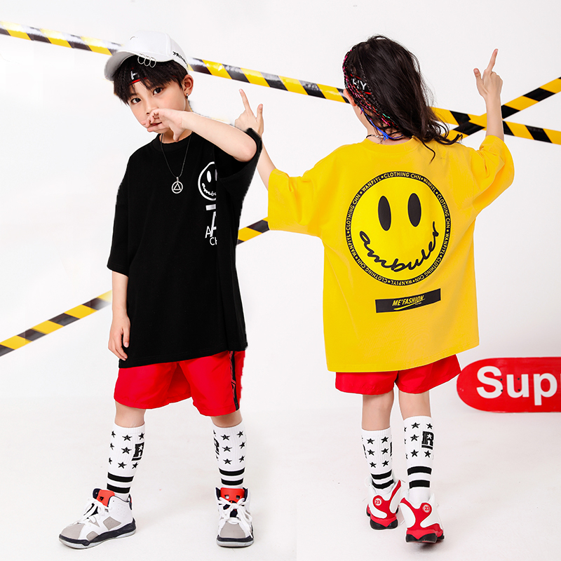 Boy Girl summer 2019 clothes Set 4 6 8 10 12 14 16T hip hop dance costumes kids Jazz set on the boy outfits kids clothes boys (12)