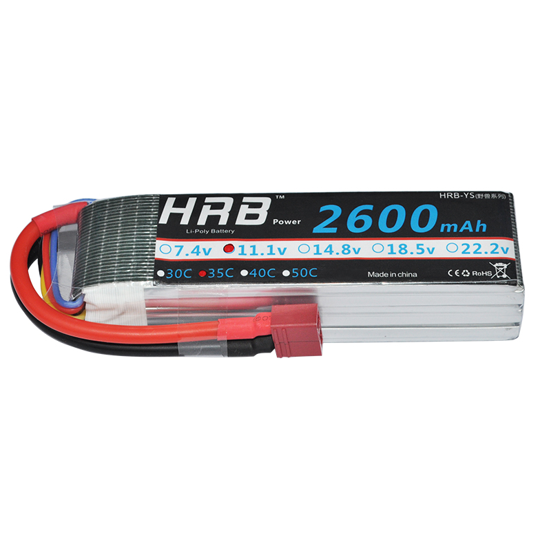 HRB 3S Lipo Battery 11.1v 2600mAh 35C 70C for RC Helicopter Car Boat Quadcopter Airplane AKKU Bateria image