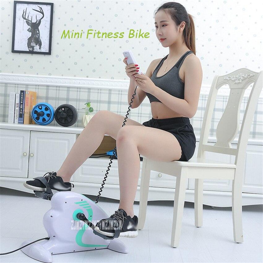 V202 Mini bicicleta de entrenamiento para ciclismo de interior, paso a paso, entrenamiento de rehabilitación de ancianos, ajuste de resistencia de bicicleta, bicicleta de ejercicio eléctrica