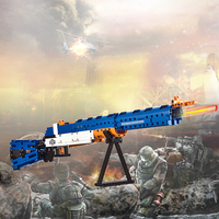 583pcs Legoing Weapon Big Gun Series World War II Military Germany Army Soldiers M1 GUNs Model Building Blocks Bricks Toy Gifts