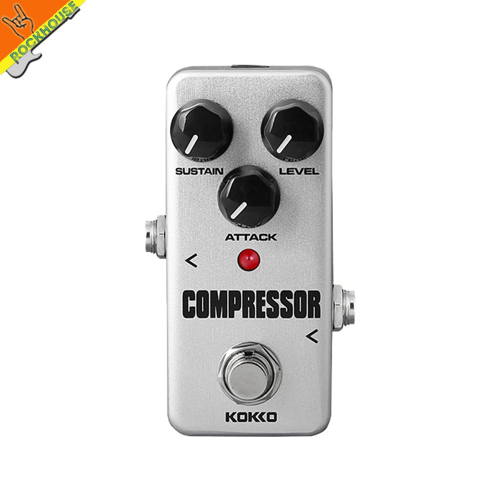 KOKKO Compressor Guitar Effect Pedal Bass Compressor Effects Pedal Stompbox Balance dynamic steady output level True Bypass mooer ensemble queen bass chorus effect pedal mini guitar effects true bypass with free connector and footswitch topper