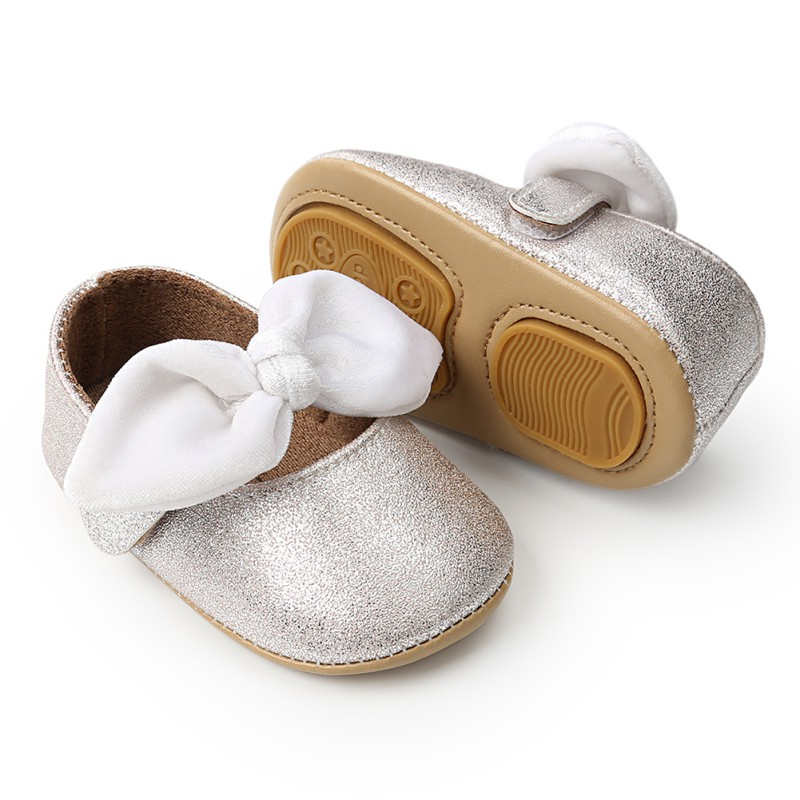 Spring Summer Baby Girl Bow-knot Soft Sole Shoes Anti-slip Shoes Princess First Walkers 0-18M New