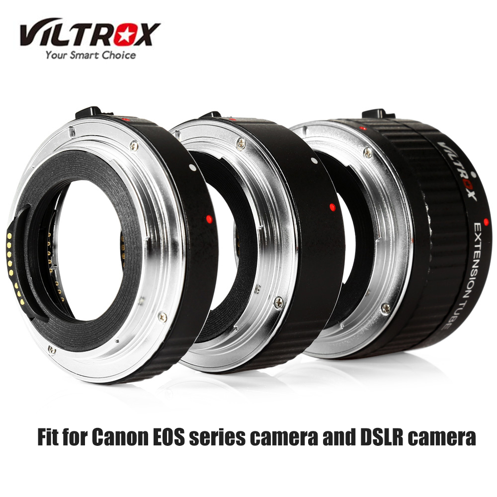 Viltrox Camera Lens Adapter DG - C 12MM 20MM 36MM AF Auto Focus Metal Mount Macro Extension Tube Set for Canon EOS Series Camera