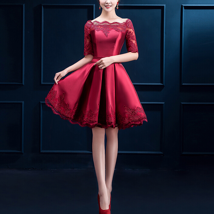 Aliexpress Com Buy New Design Simple But Elegant Short: Aliexpress.com : Buy 2017 New Design Evening Dresses With