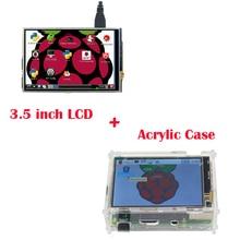 Big discount Raspberry Pi 3 Model B Display Module 3.5 inch LCD TFT Screen +Raspberry Pi Acrylic Case for Raspberry pi 2 Free Shipping