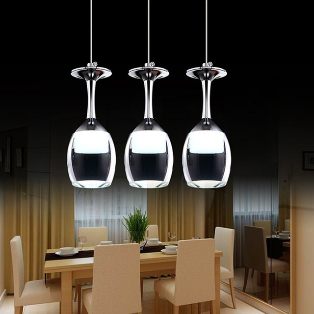 stainless steel lighting fixtures. Comtemporary Wine Cup Shape Led Pendant Lamp Glass + Stainless Steel Lighting Fixtures,pendant Lights For Kitchen Bar Bedroom Fixtures S