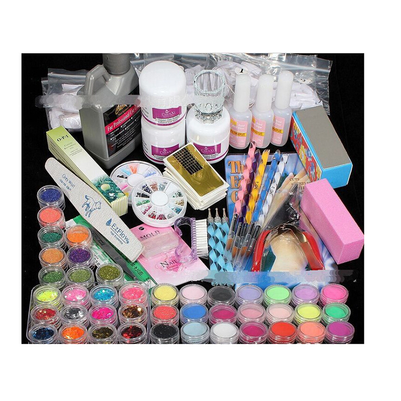 Nail Art Salon Supplies Kit Tool UV Gel Nail Polish DIY Makeup Full Set Manicure Set free shipping nail art salon supplies kit tool uv gel nail polish diy makeup full set manicure set free shipping