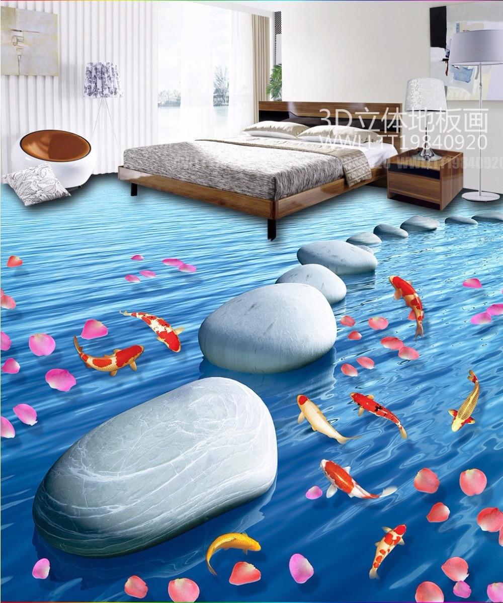 Free Shipping Stone floats carp flooring 3D floor tiles wear non ...