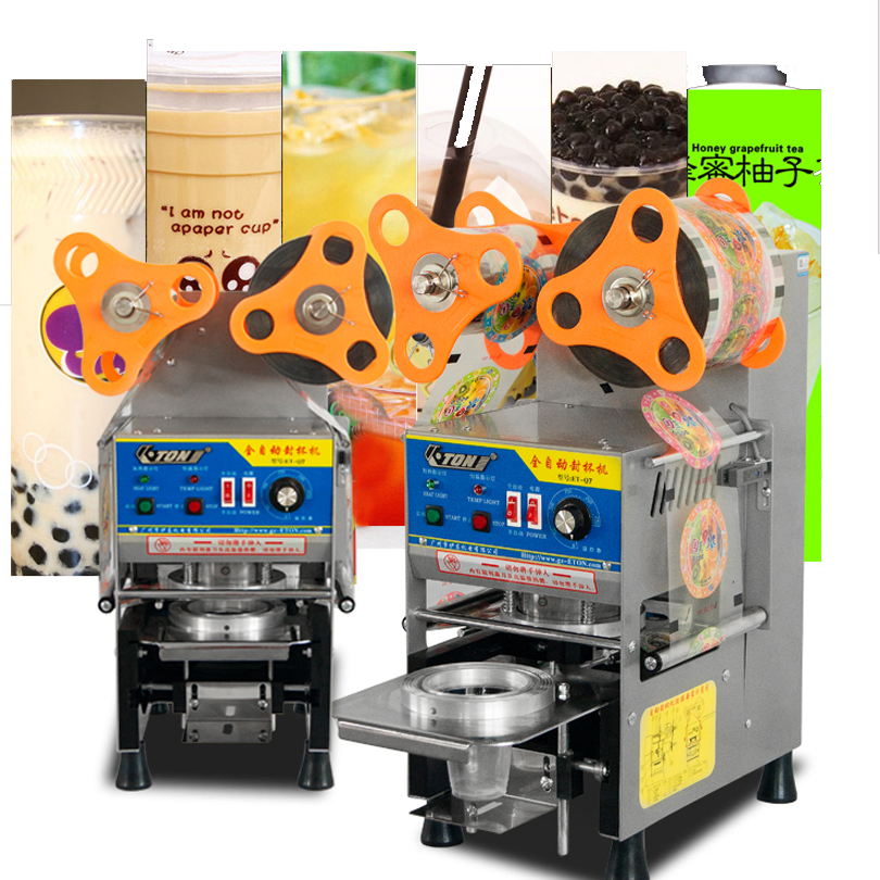Free Shipping Automatic Cup Sealing Machine,Bubble Tea Cup Sealing Machine,boba Cup Sealer,plastic Cup Sealer,new!